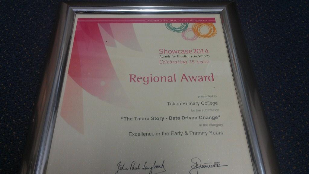 Classroom Calendars Maroochydore : Showcase regional awards success for talara primary