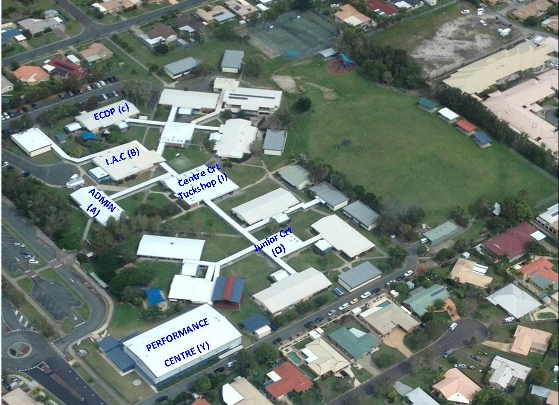 Aerial image of school grounds